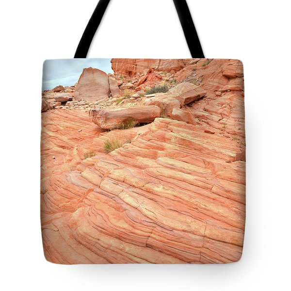 Tote Bag featuring the photograph Swirling Sandstone Color In Valley Of Fire by Ray Mathis