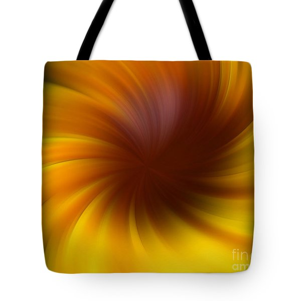 Swirling Yellow And Brown Tote Bag