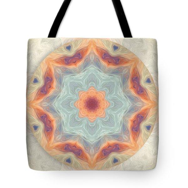 Swirls Of Love Mandala Tote Bag