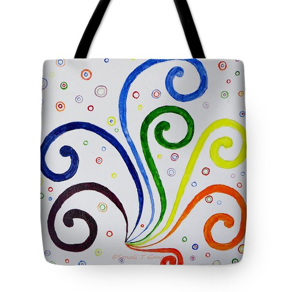 Tote Bag featuring the painting Swirls by Sonali Gangane