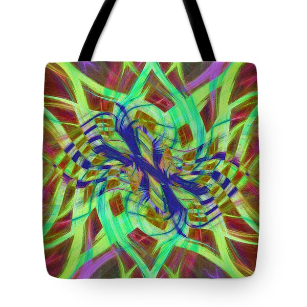 Swirly Floral Mandala 01 Tote Bag by Jack Torcello