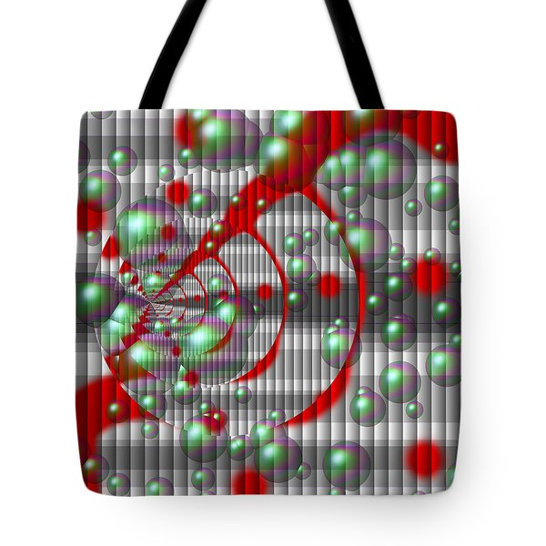 Swirly Red With Bubbles Tote Bag