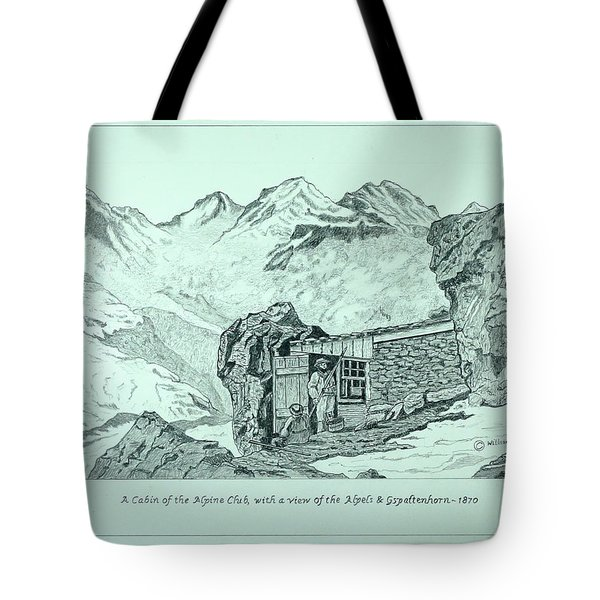 Swiss Alpine Cabin Tote Bag