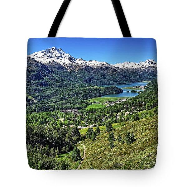 Swiss Alps And Lake Tote Bag
