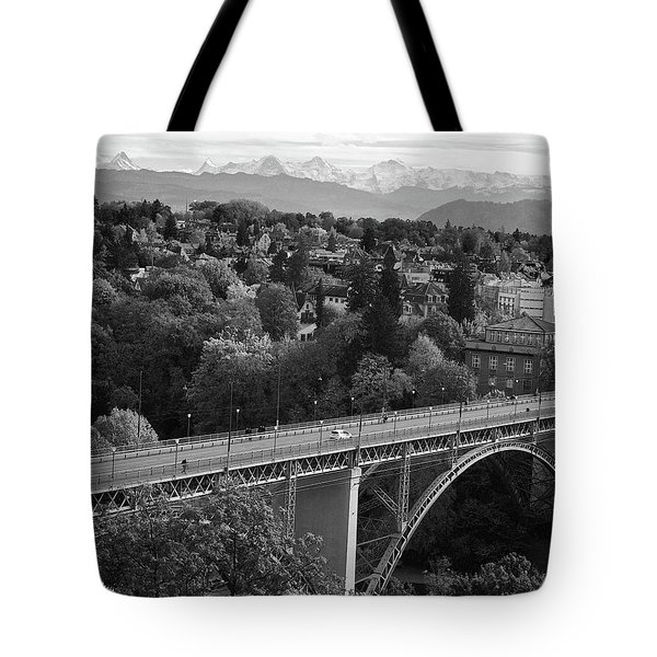 Swiss Alps From Berne Tote Bag