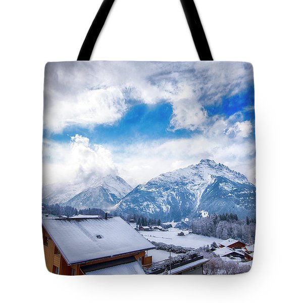 Swiss Alps Tote Bag by Pravine Chester