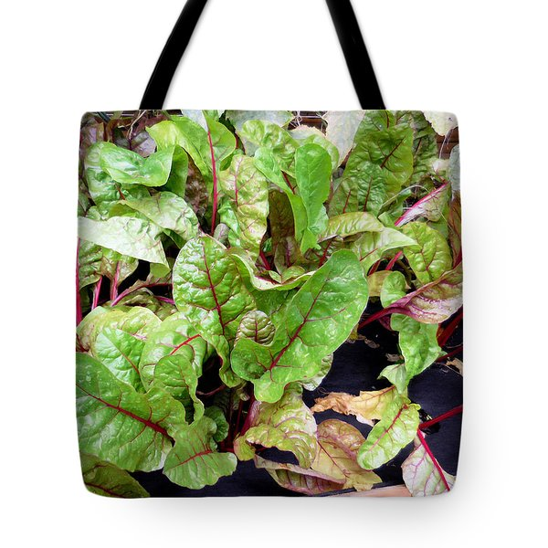 Swiss Chard In A Vegetable Garden 1 Tote Bag