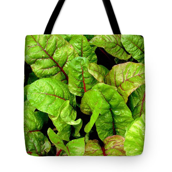 Swiss Chard In A Vegetable Garden 3 Tote Bag