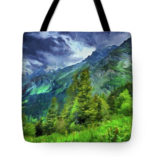 Swiss Countryside Tote Bag