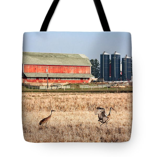 Swiss Cranes Tote Bag