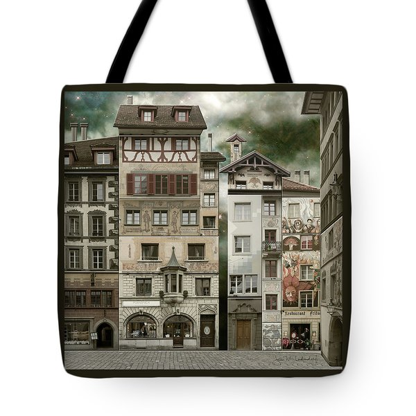 Swiss Reconstruction Tote Bag