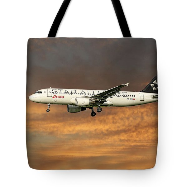 Swiss Star Alliance Livery Airbus A320-214 7 Tote Bag