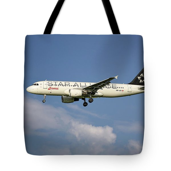 Swiss Star Alliance Livery Airbus A320-214 8 Tote Bag