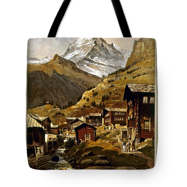 Swiss Travel Poster, 1898 Tote Bag by Granger