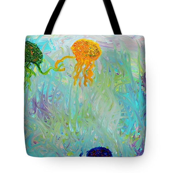 Tote Bag featuring the painting Swooping  by Lola Connelly