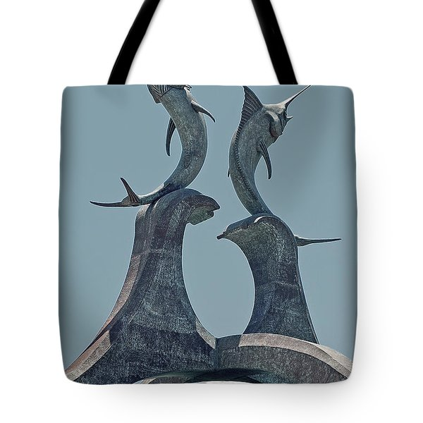 Swordfish Sculpture Tote Bag by DigiArt Diaries by Vicky B Fuller