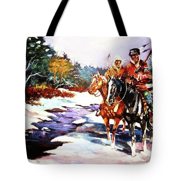 Snowbound Hunters Tote Bag