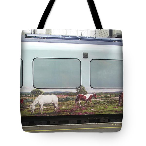 Tote Bag featuring the painting Swt Artwork Commission by Martin Davey