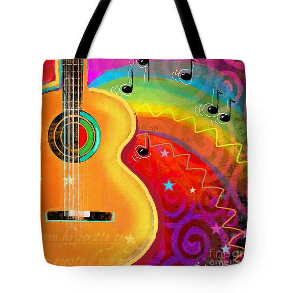 Sxsw Musical Guitar Fantasy Painting Print Tote Bag