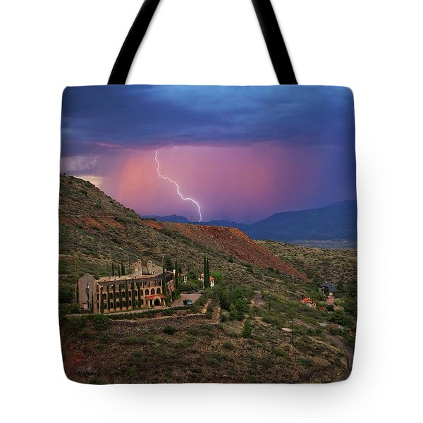 Sycamore Canyon Lightning With Little Daisy Tote Bag