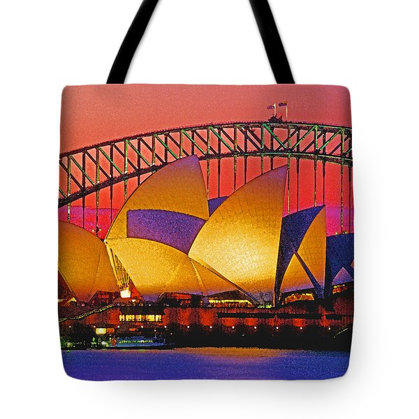 Sydney Architecture Tote Bag by Dennis Cox WorldViews