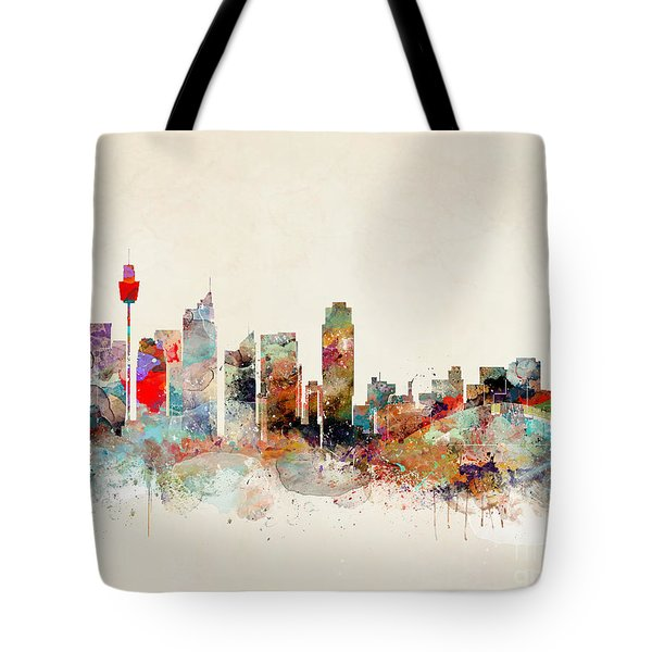 Tote Bag featuring the painting Sydney Australia by Bri B