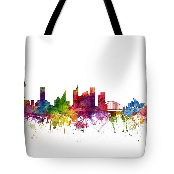 Sydney Australia Cityscape 06 Tote Bag by Aged Pixel