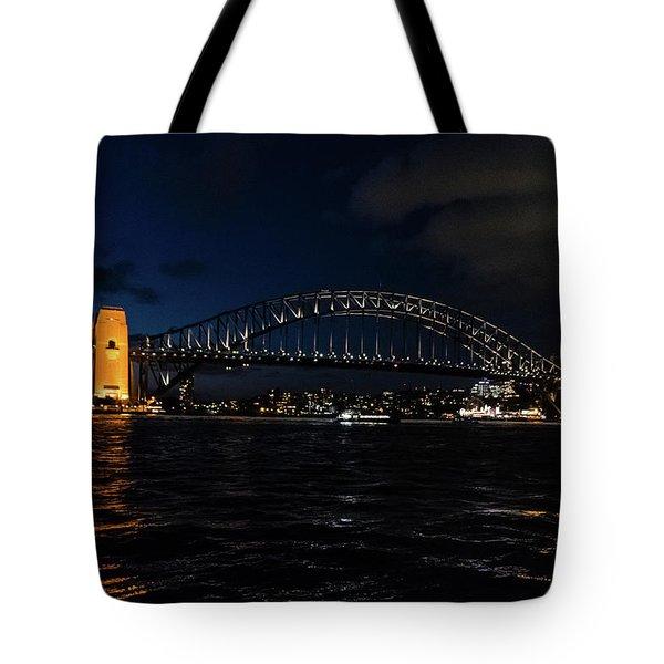 Sydney Bridge At Night Tote Bag