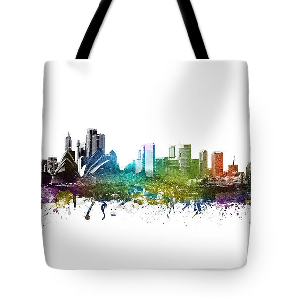 Sydney Cityscape 01 Tote Bag by Aged Pixel