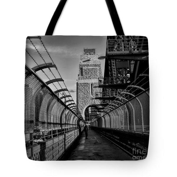 Sydney Harbor Bridge Bw Tote Bag