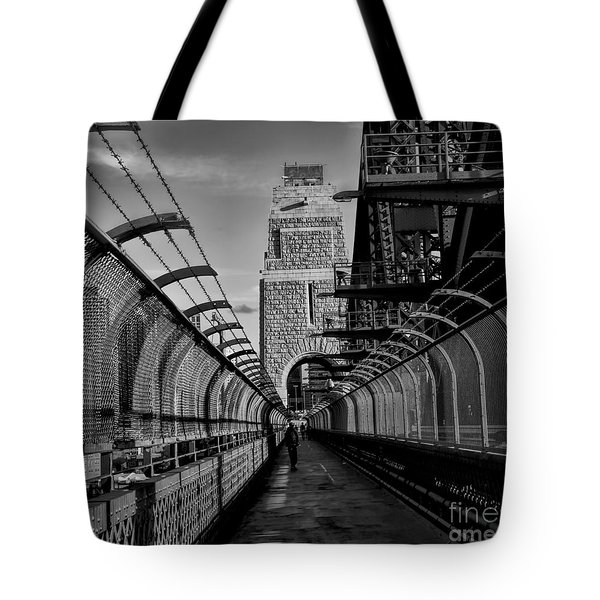 Sydney Harbor Bridge Bw Tote Bag