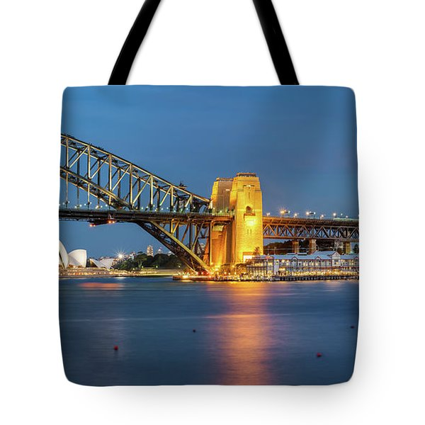 Sydney Harbour At Dusk Tote Bag