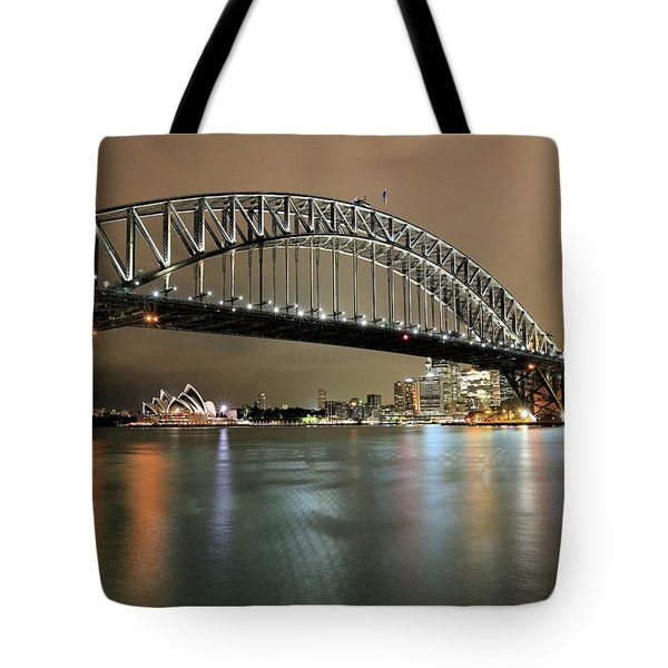 Sydney Harbour At Night Tote Bag