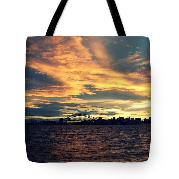 Sydney Harbour At Sunset Tote Bag