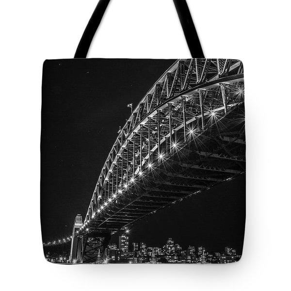 Sydney Harbour Bridge At Night Tote Bag