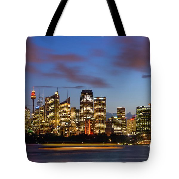 Sydney Harbour Sunset Tote Bag