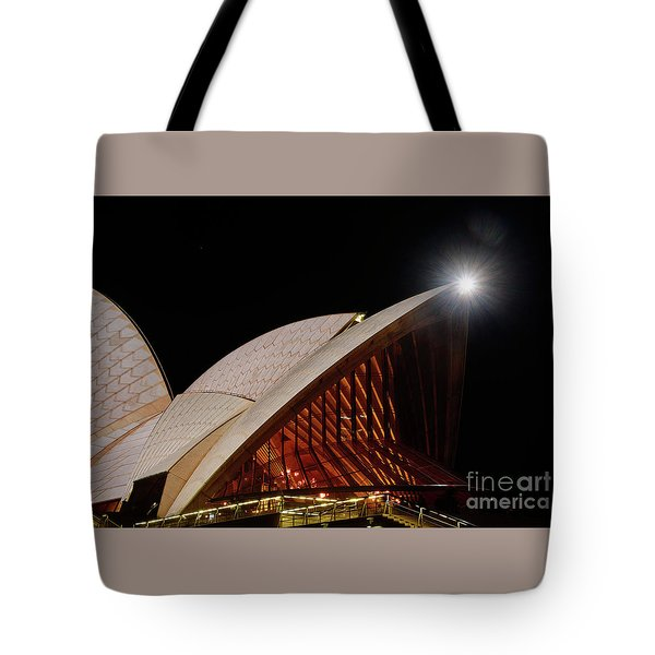 Tote Bag featuring the photograph Sydney Opera House Close View By Kaye Menner by Kaye Menner