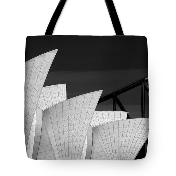 Sydney Opera House With Bridge Backdrop Tote Bag by Avalon Fine Art Photography