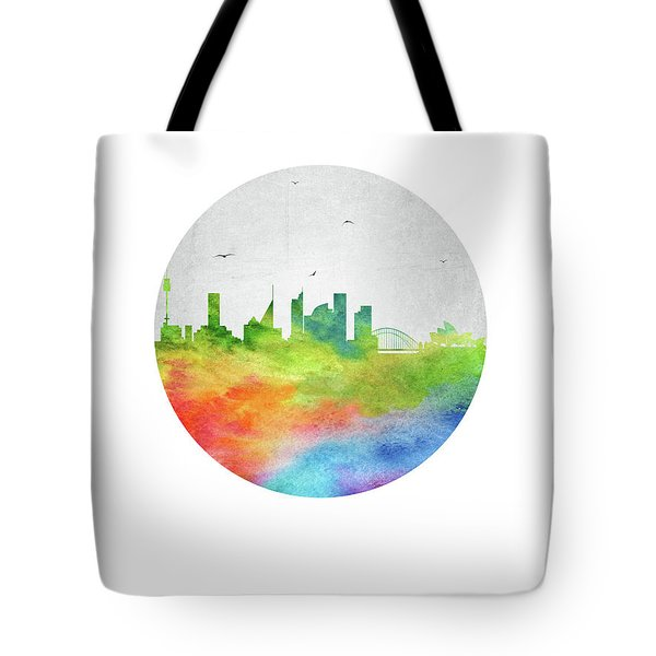 Sydney Skyline Ausy20 Tote Bag by Aged Pixel