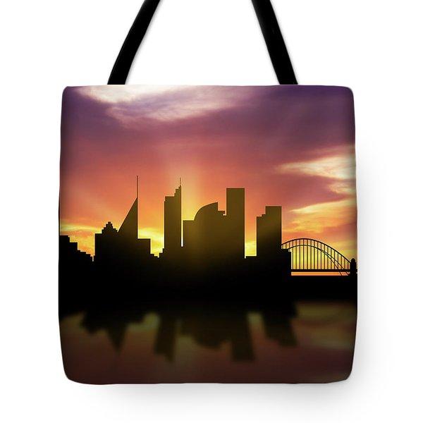 Sydney Skyline Sunset Ausy22 Tote Bag