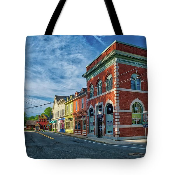 Tote Bag featuring the photograph Sykesville Main St by Mark Dodd