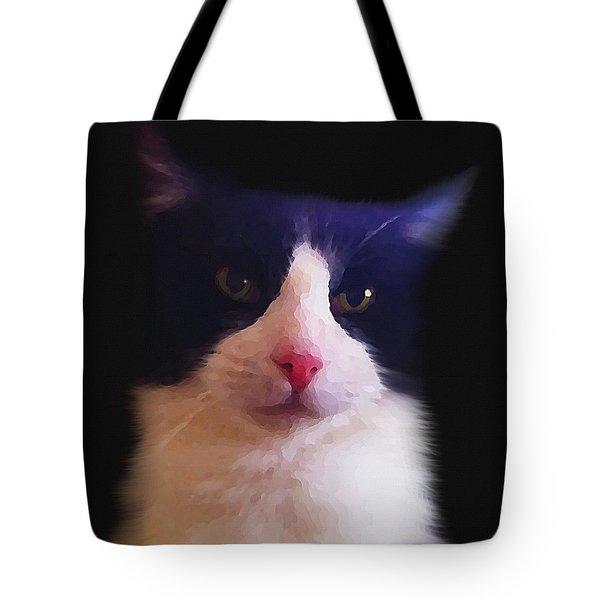 Sylvester Tuxedo Cat Tote Bag