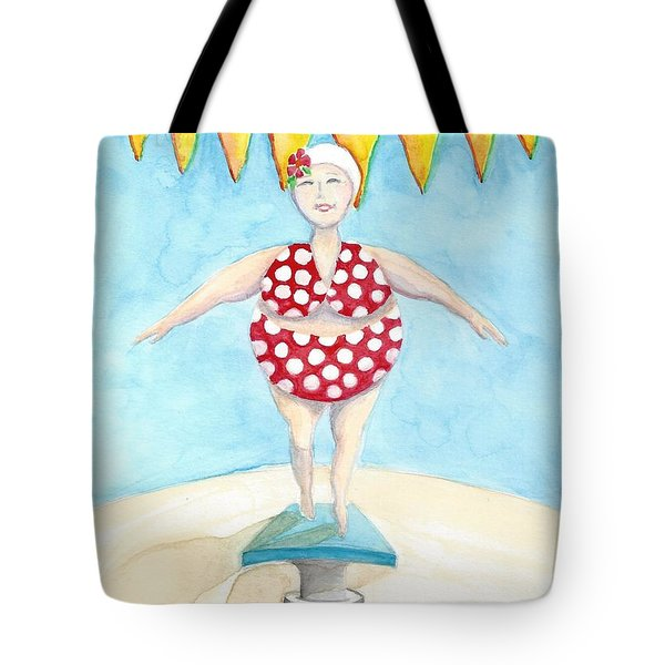 Sylvia At The Pool Tote Bag