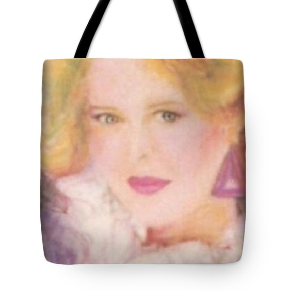 Tote Bag featuring the drawing Sylvia by Denise Fulmer