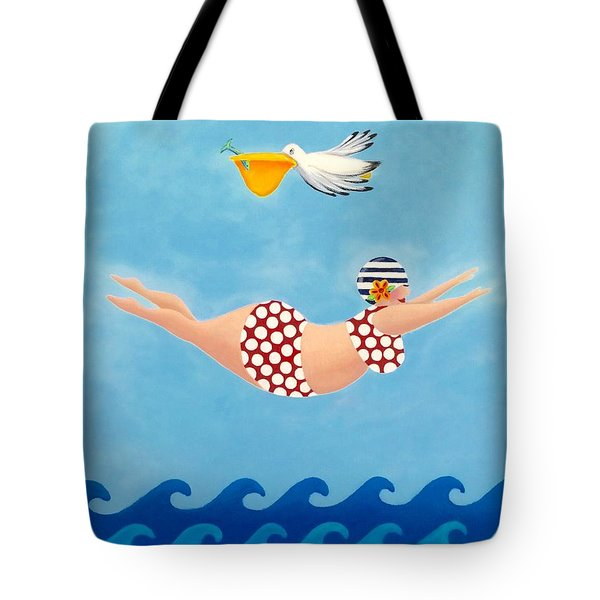 Sylvia Diving II Tote Bag