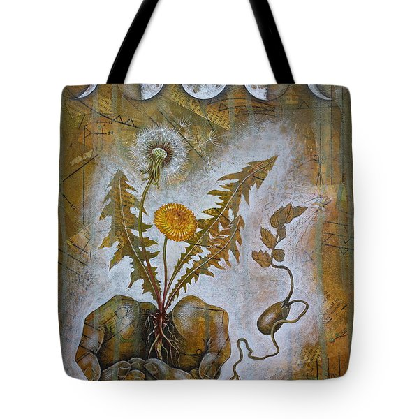 Tote Bag featuring the mixed media Symbiosis by Sheri Howe
