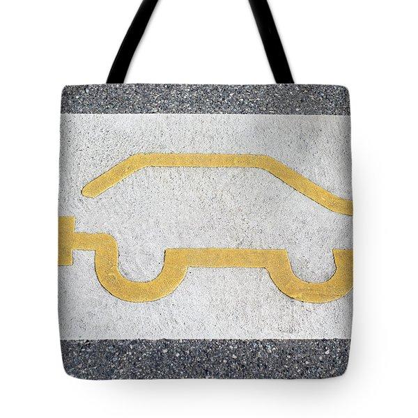 Symbol For Electric Car Tote Bag