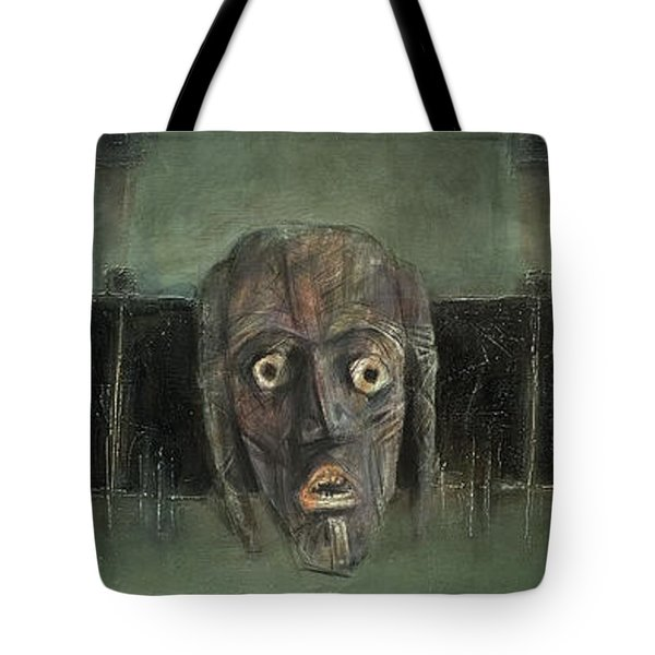 Symbol Mask Painting - 05 Tote Bag by Behzad Sohrabi