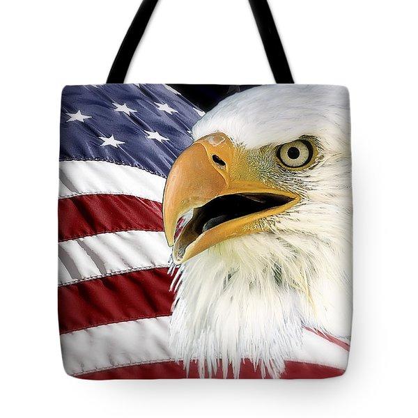 Symbol Of America Tote Bag by Teresa Zieba