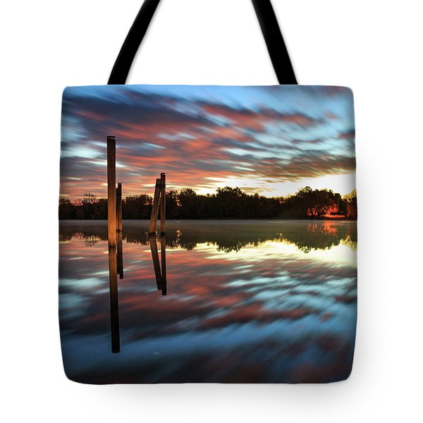 Symetry On The River Tote Bag